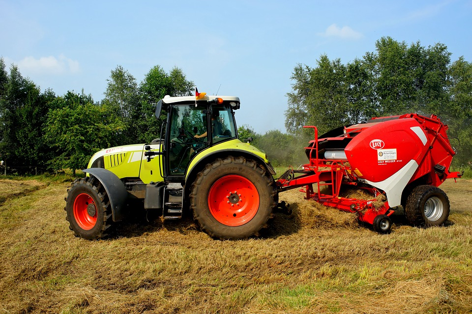 Tractors and trailed machines